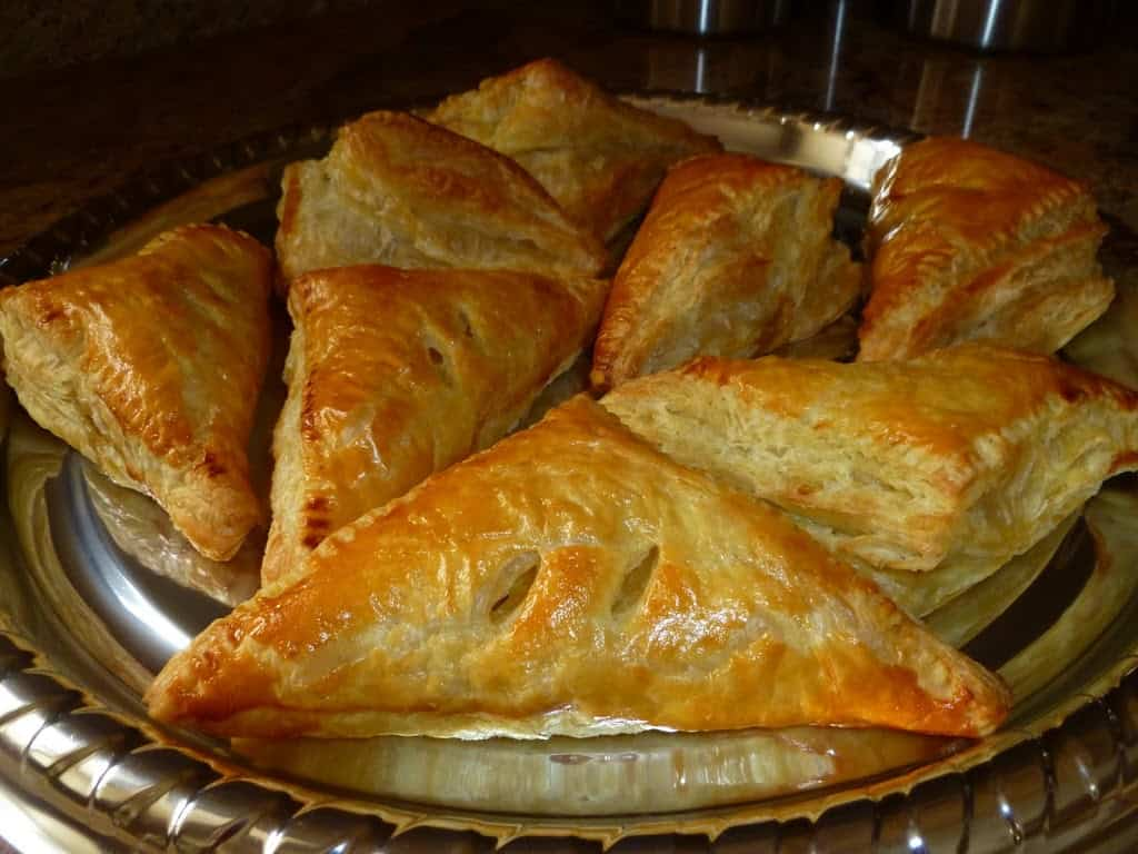 Apple Turnovers on a tray