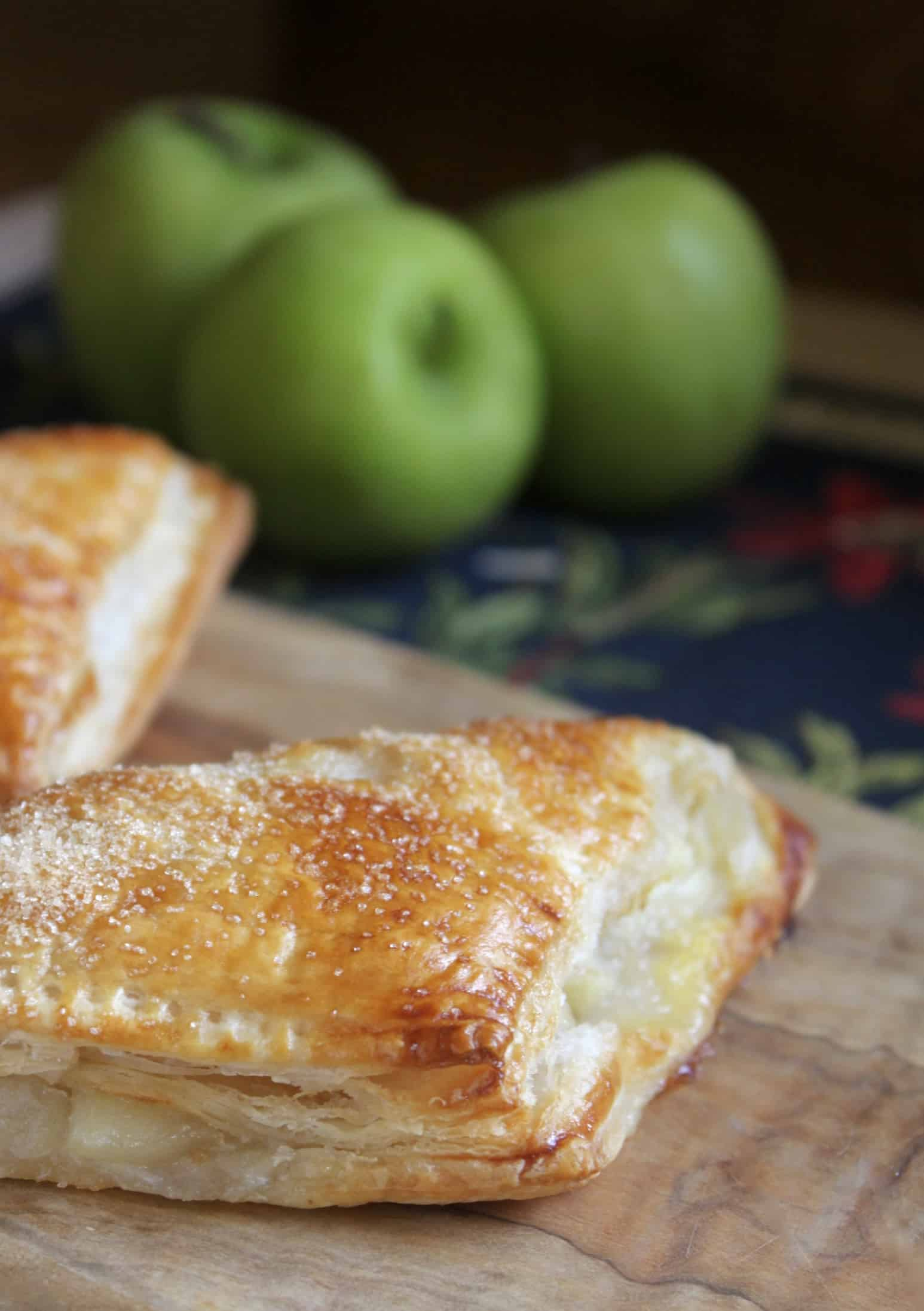 Apple turnover with green apples