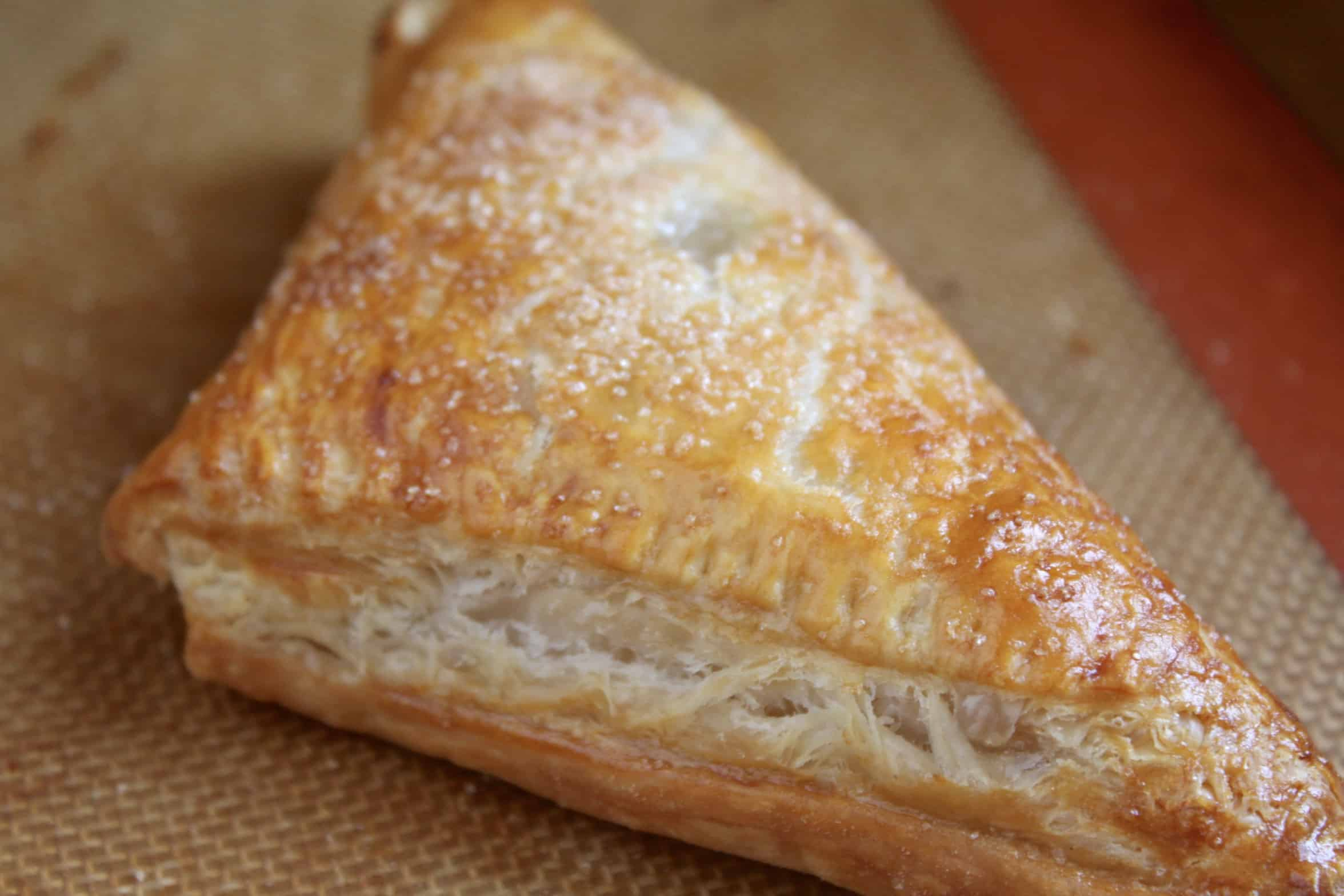 apple turnover out of the oven