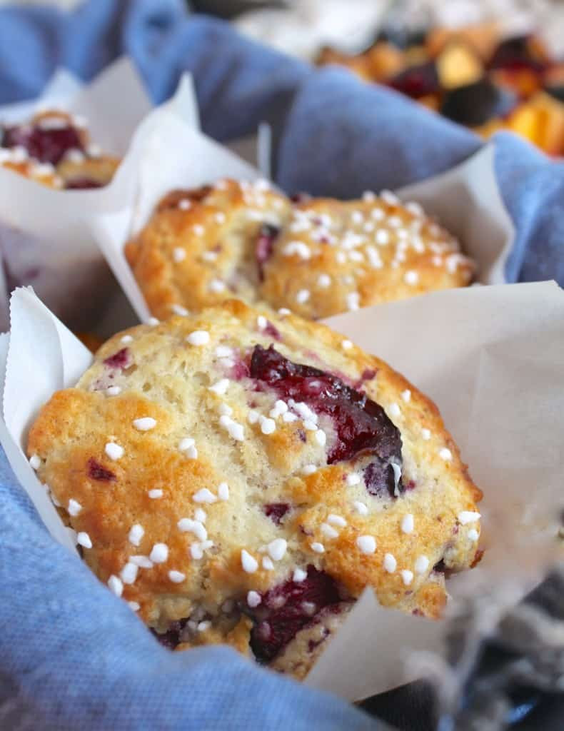perfect plum muffins