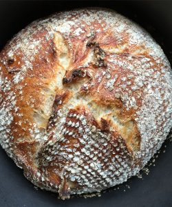 No knead bread cooling