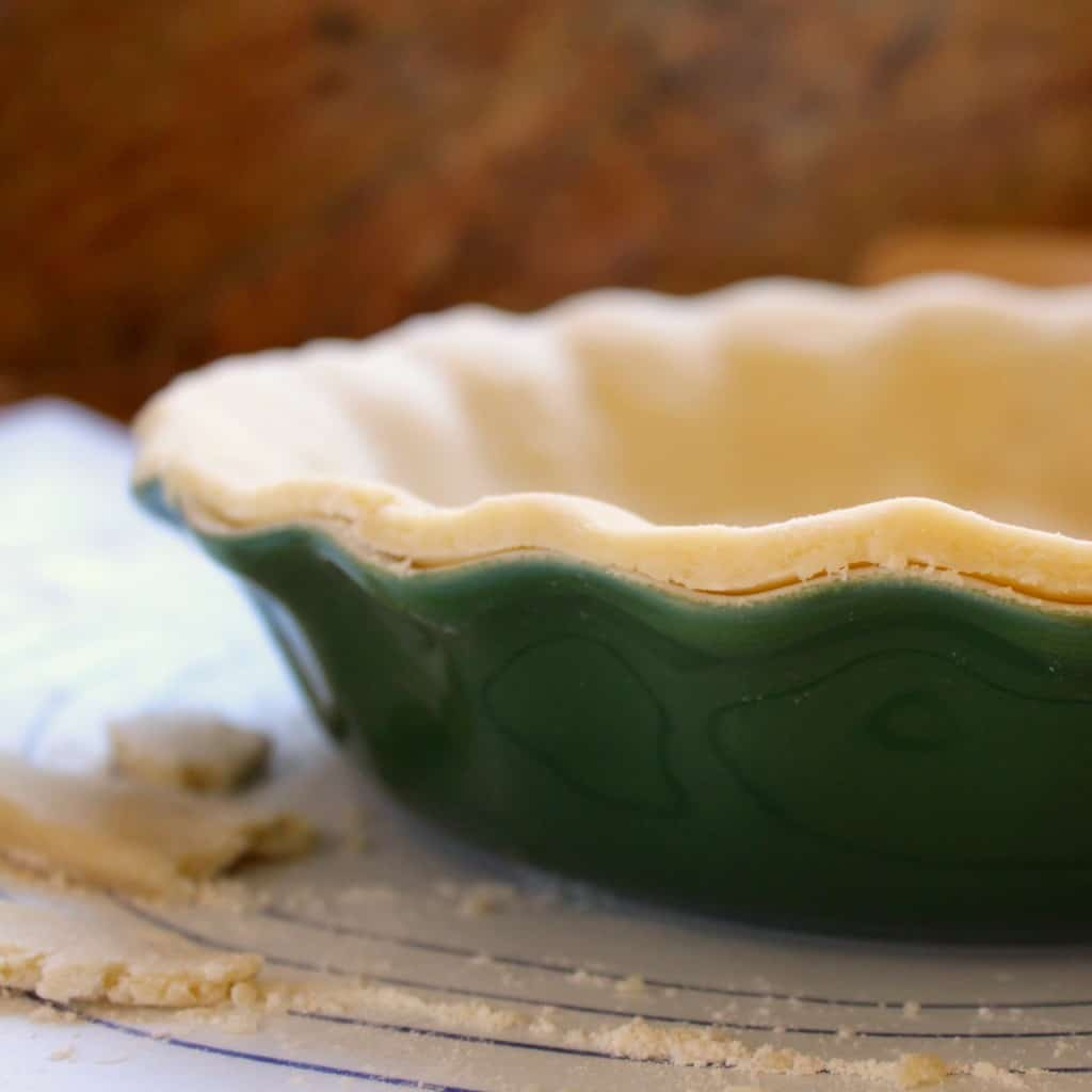 One minute pie pastry in pie dish