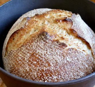 No knead bread in a pot