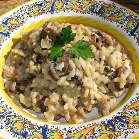 Mushroom & Sausage Risotto