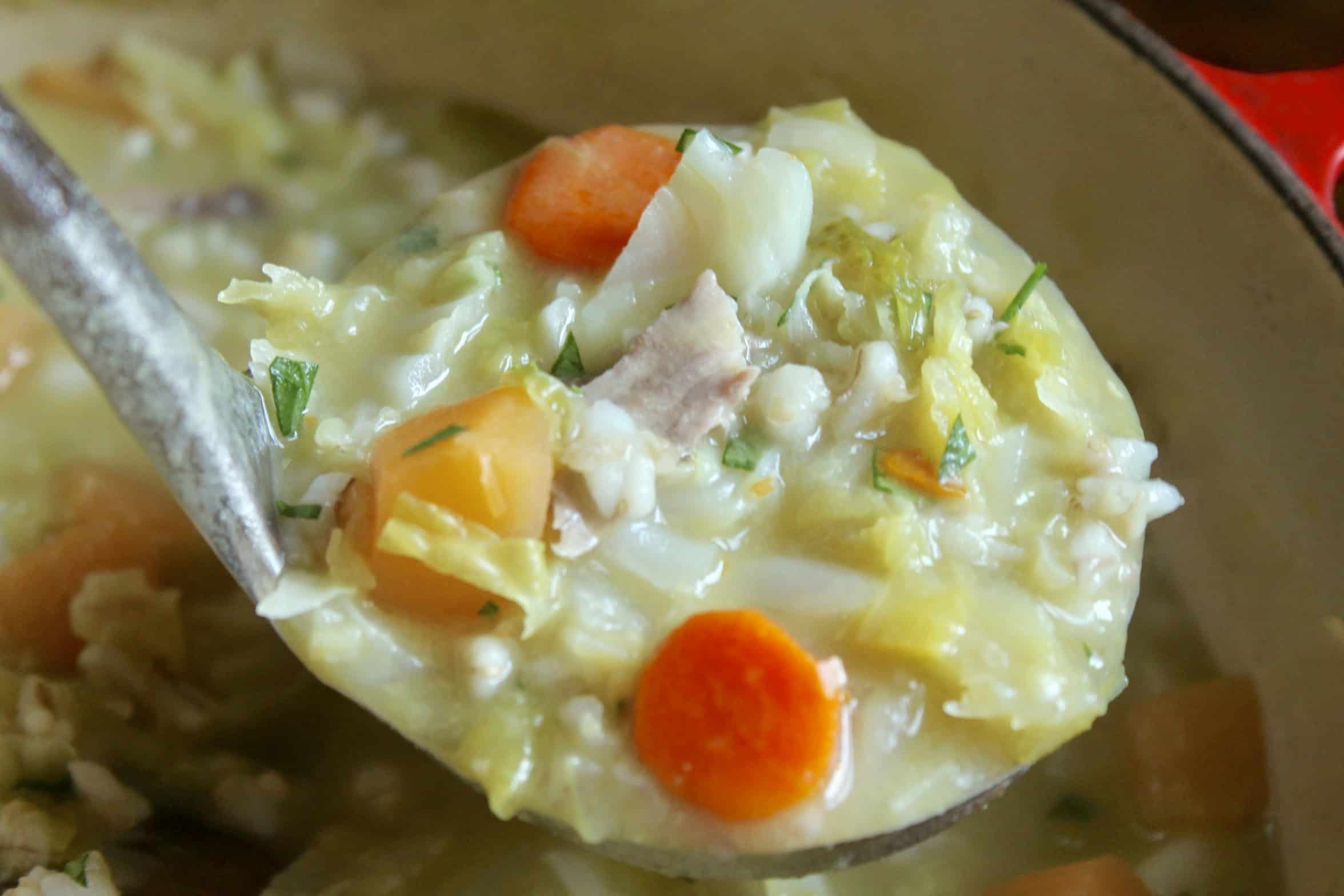 ladle of Scotch soup