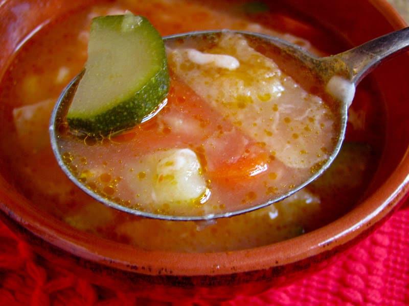 spoonful of tortilla soup