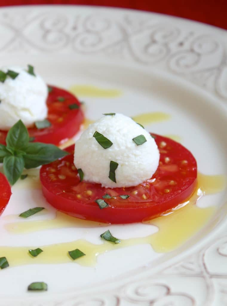Tomato Ricotta and Basil Antipasto