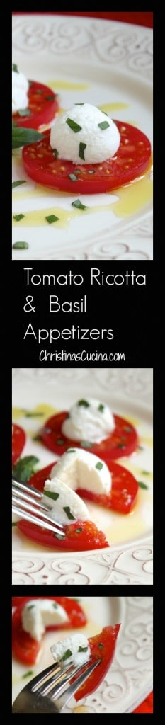 Tomato Ricotta and Basil Appetizers