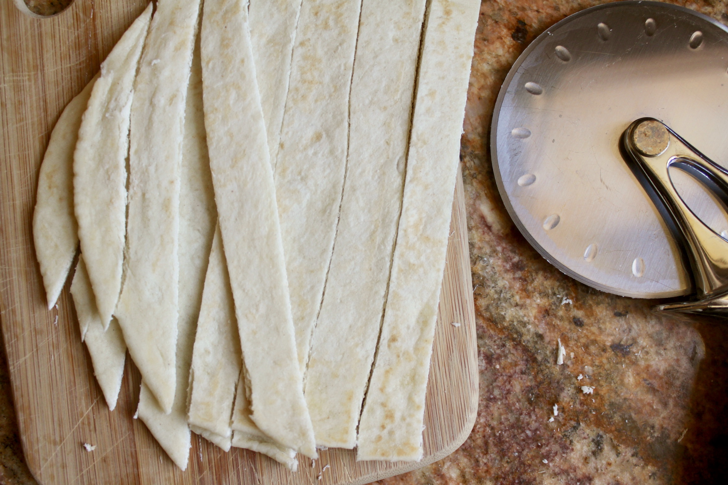 cutting tortillas