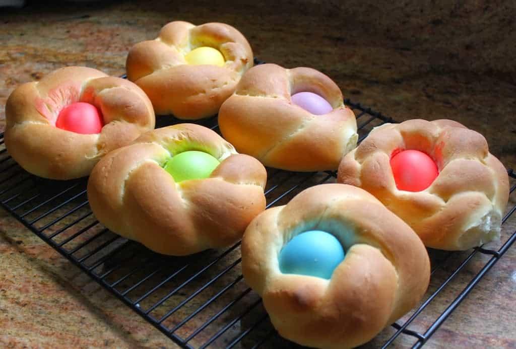 baked Italian Easter bread rings