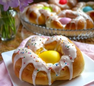 Individual Italian Easter Bread Rings…Easy Step by Step Directions
