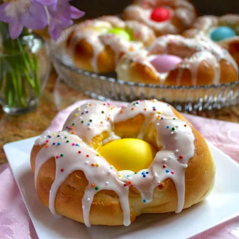 Individual Italian Easter Bread Rings Easy Step By Step Directions Christina S Cucina
