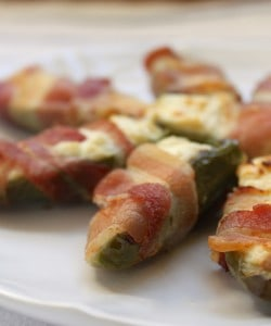 Bacon Wrapped Jalapeños with Cream Cheese Appetiser