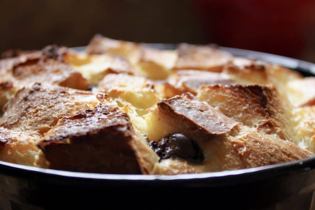 Chocolate bread and butter pudding recipe