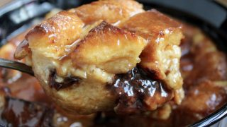 Chocolate (or Raisin) Bread Pudding with Brown Sugar Whisky Sauce