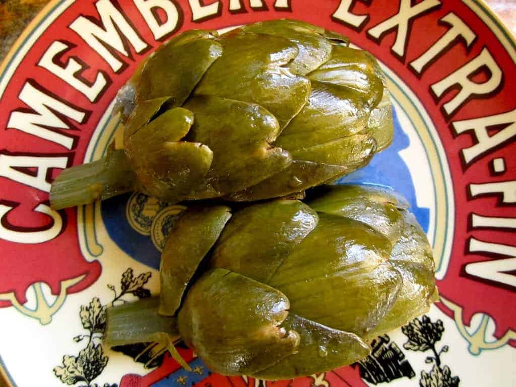 simply steamed artichokes