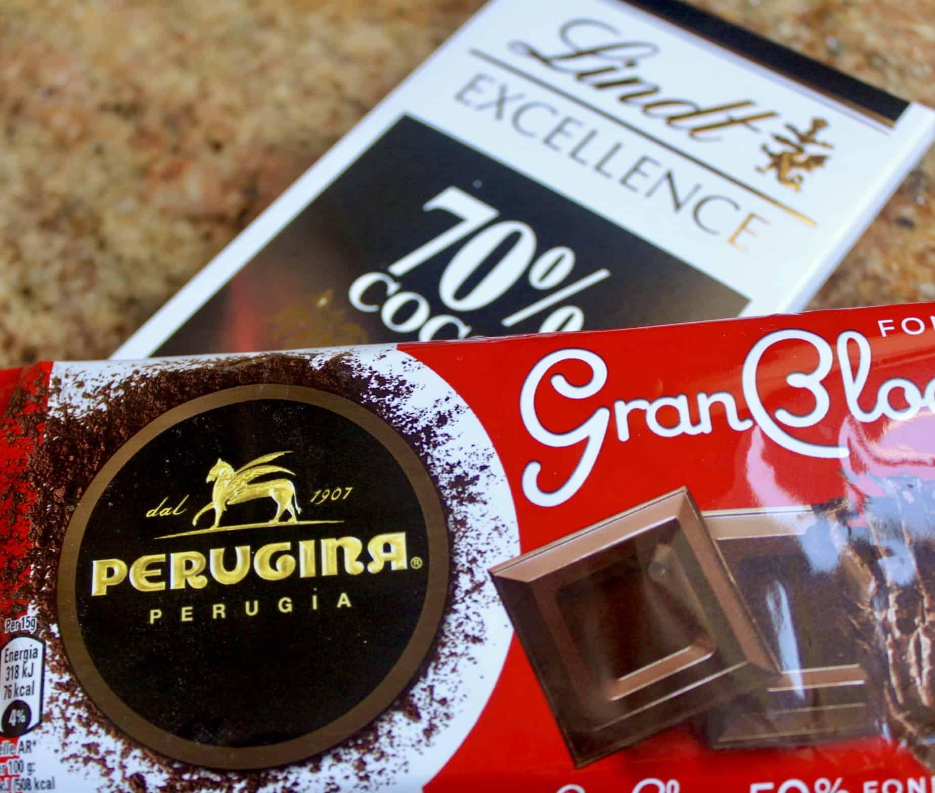 lindt and perugina chocolate bars