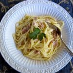 Spaghetti alla Carbonara (authentic low-fat and inauthentic not-so-low-fat versions!)