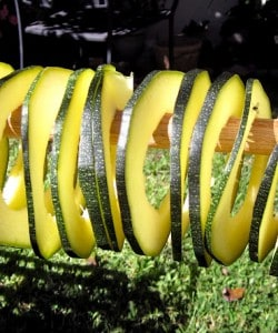 How to dry zucchini or marrow