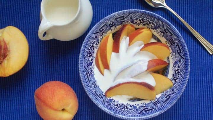 Peaches and Cream (and Cognac!)
