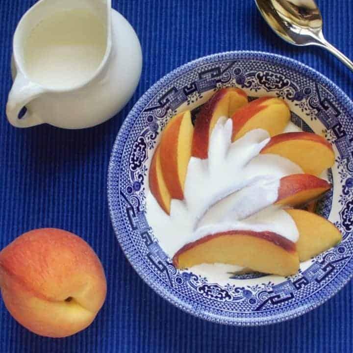 Peaches and cream and cognac