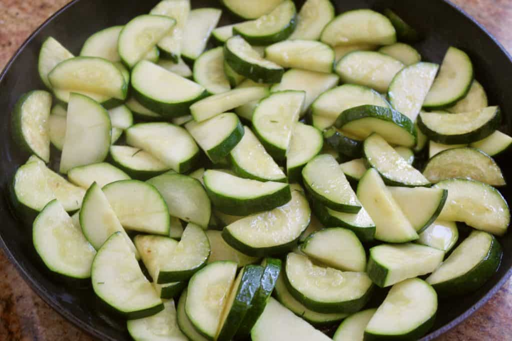 sautéing zucchini