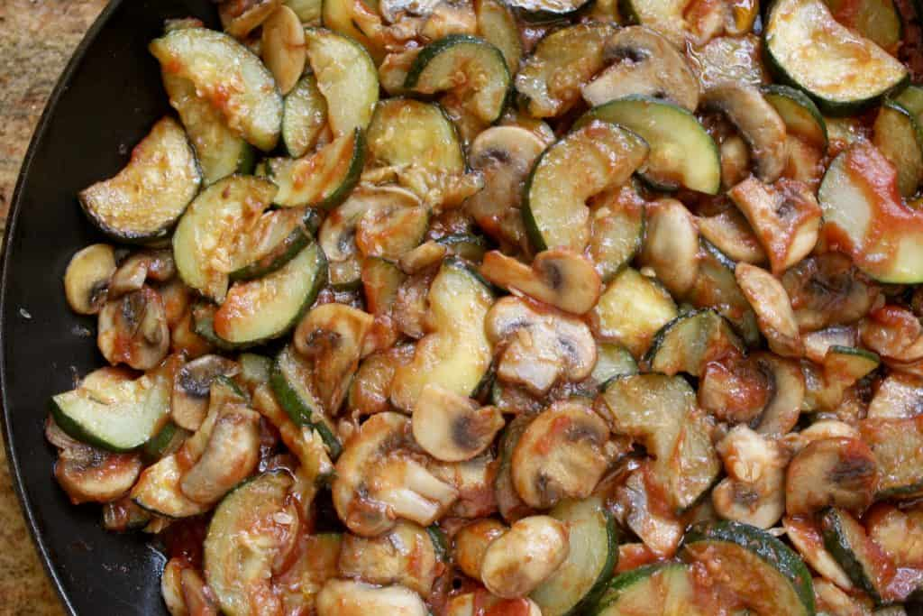 Italian style zucchini and mushrooms