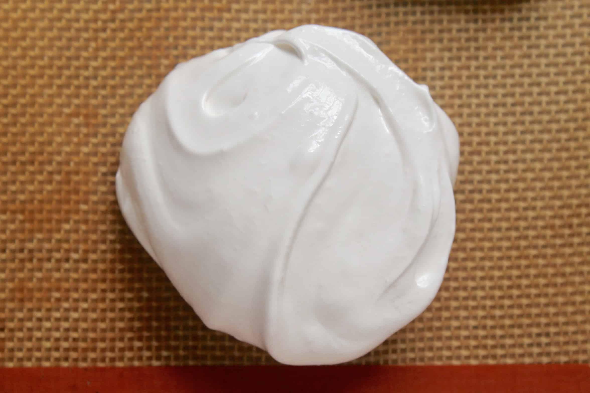 meringue on silicone sheet