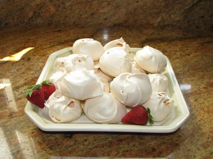 homemade meringues on a plate