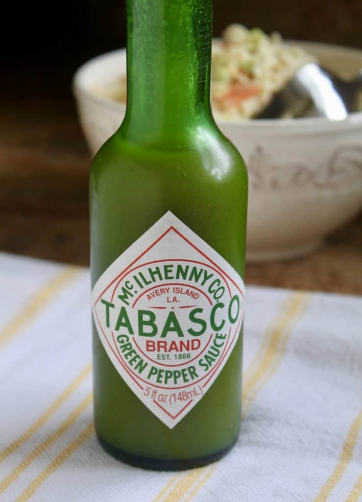 Mild tabasco with spicy cole slaw