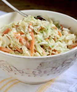 spicy cole slaw in a bowl