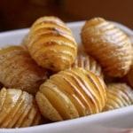 Tiny Truffled Hasselback Potatoes