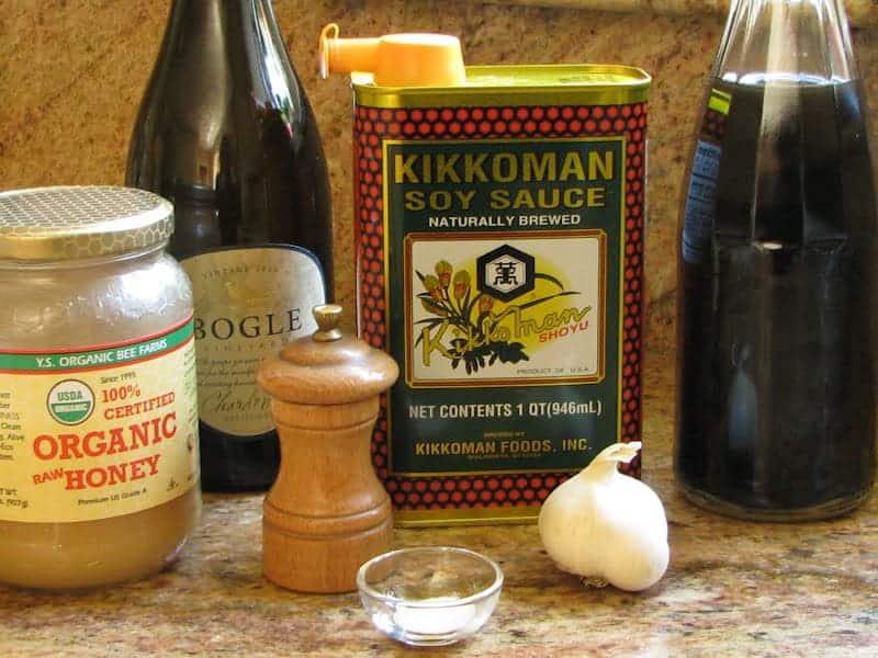ingredients for Korean marinade for bulgogi