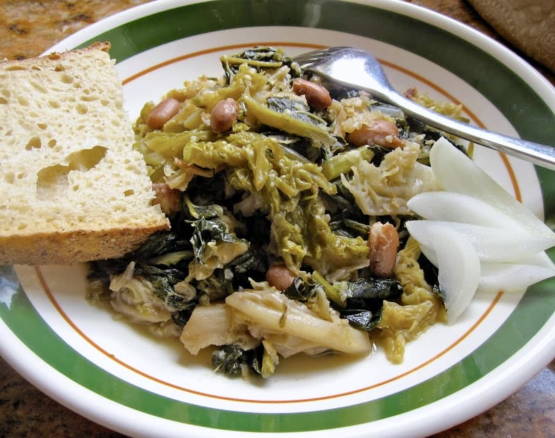 Minestra, healthy greens and beans