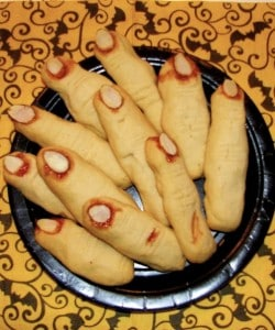 Witches' Digits (or Witches' Fingers) Scary Halloween Cookies
