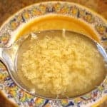 Homemade Italian Syle Chicken Soup with Stracciatella
