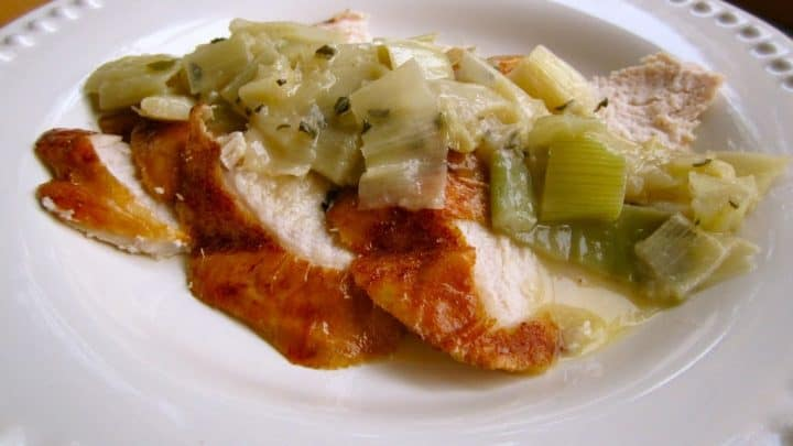 Leftover Turkey with Leeks and Butter Sage Sauce:  A Reprise