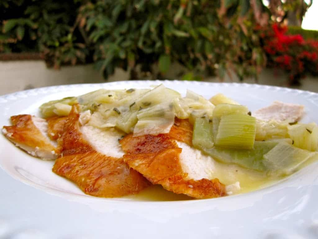 Turkey with Leeks
