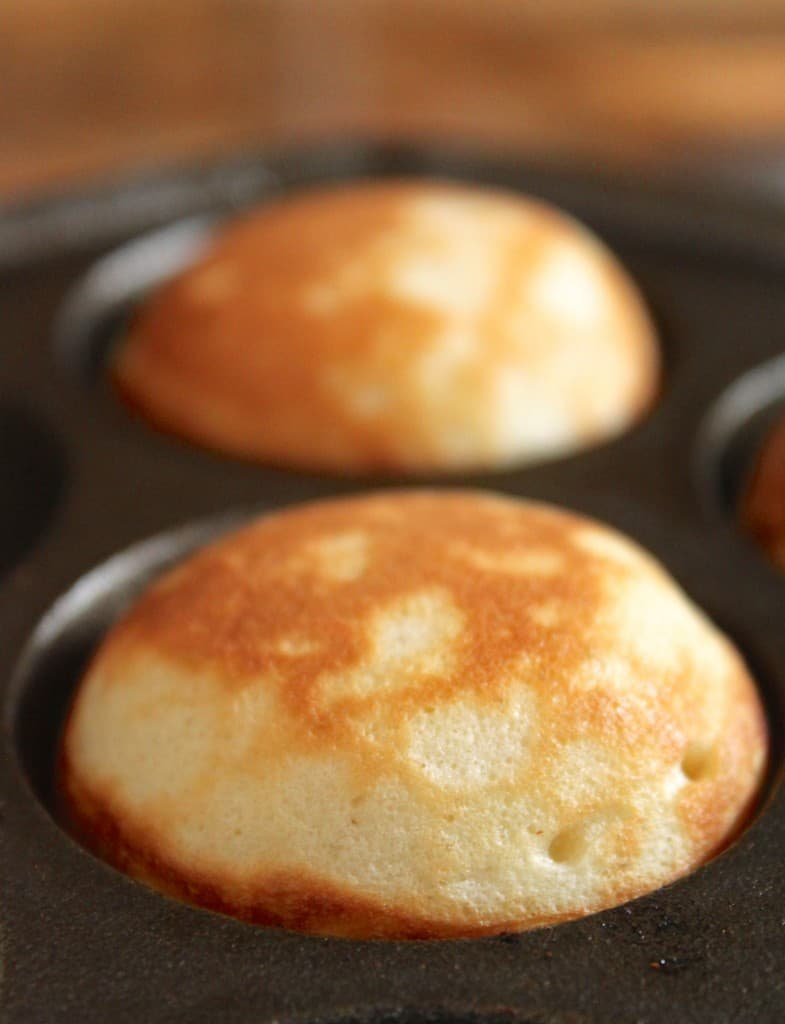 aebleskivers in pan
