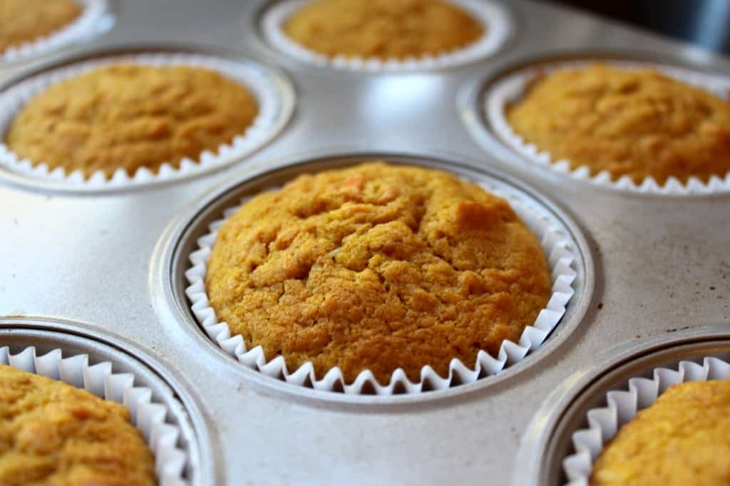 Pumpkin Cupcakes in tin