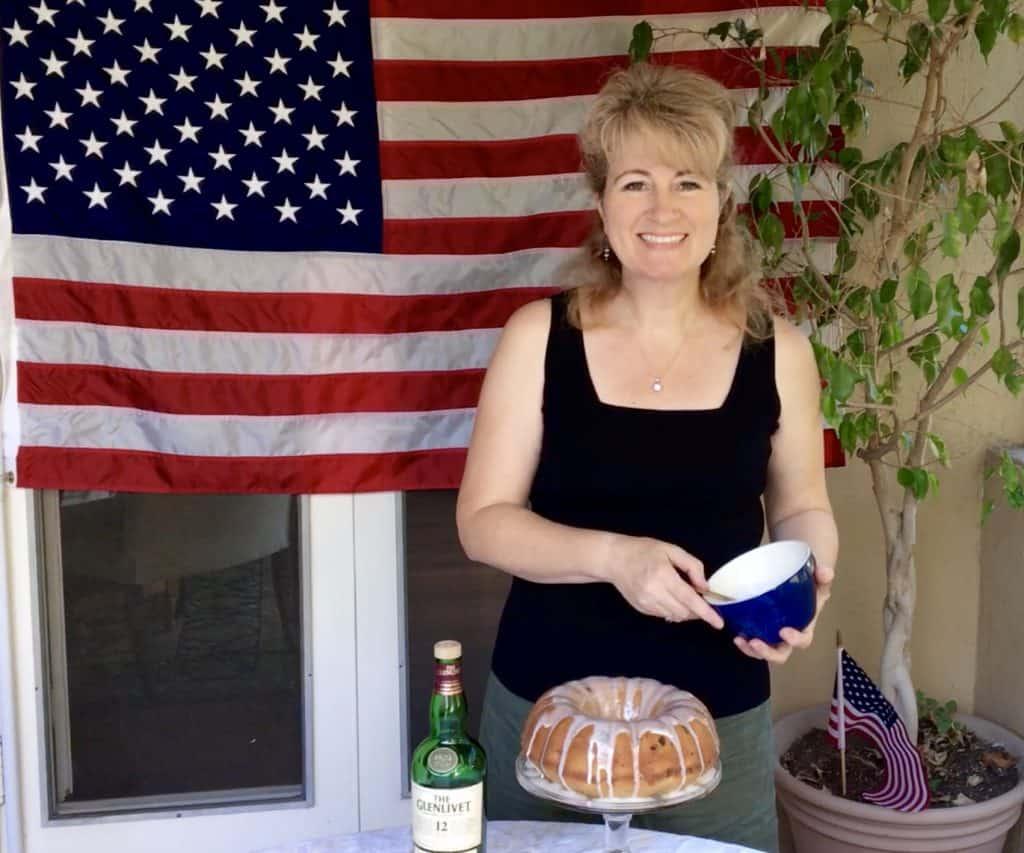 Christina Conte from Christina's Cucina decorating Election Cake