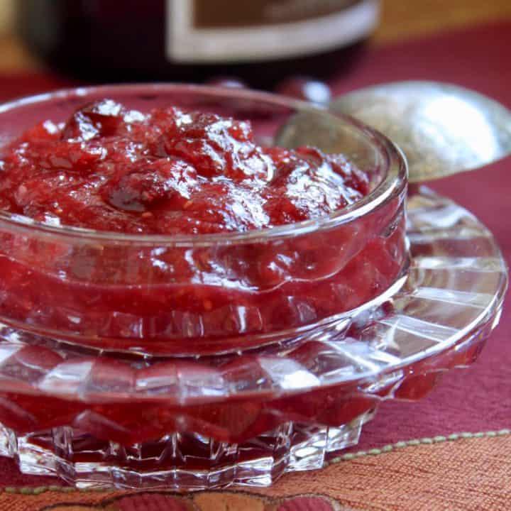 Grand Marnier Orange Cranberry Sauce homemade recipe