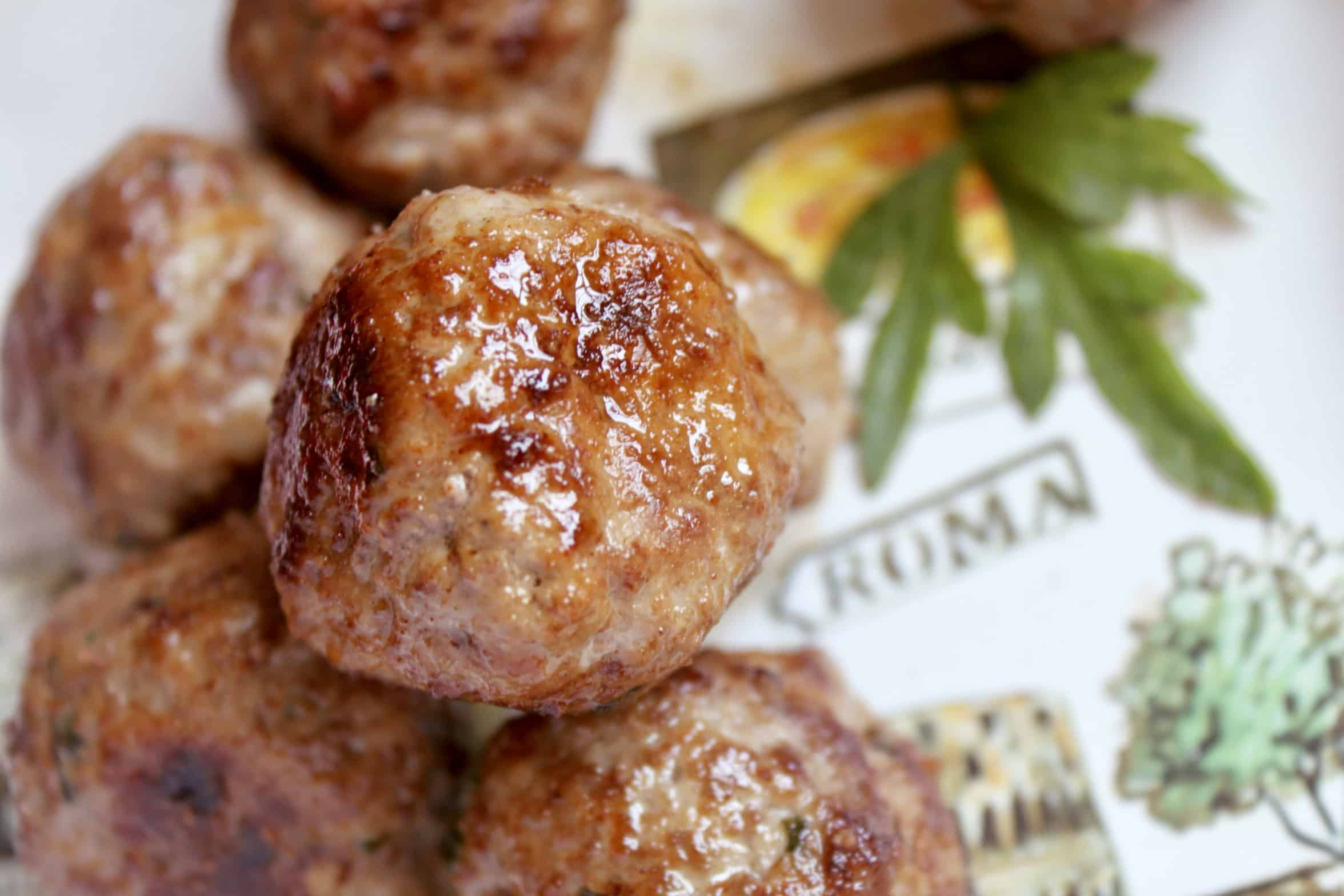meatballs piled on a plate