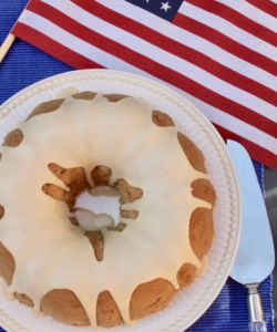 Election cake and US flag