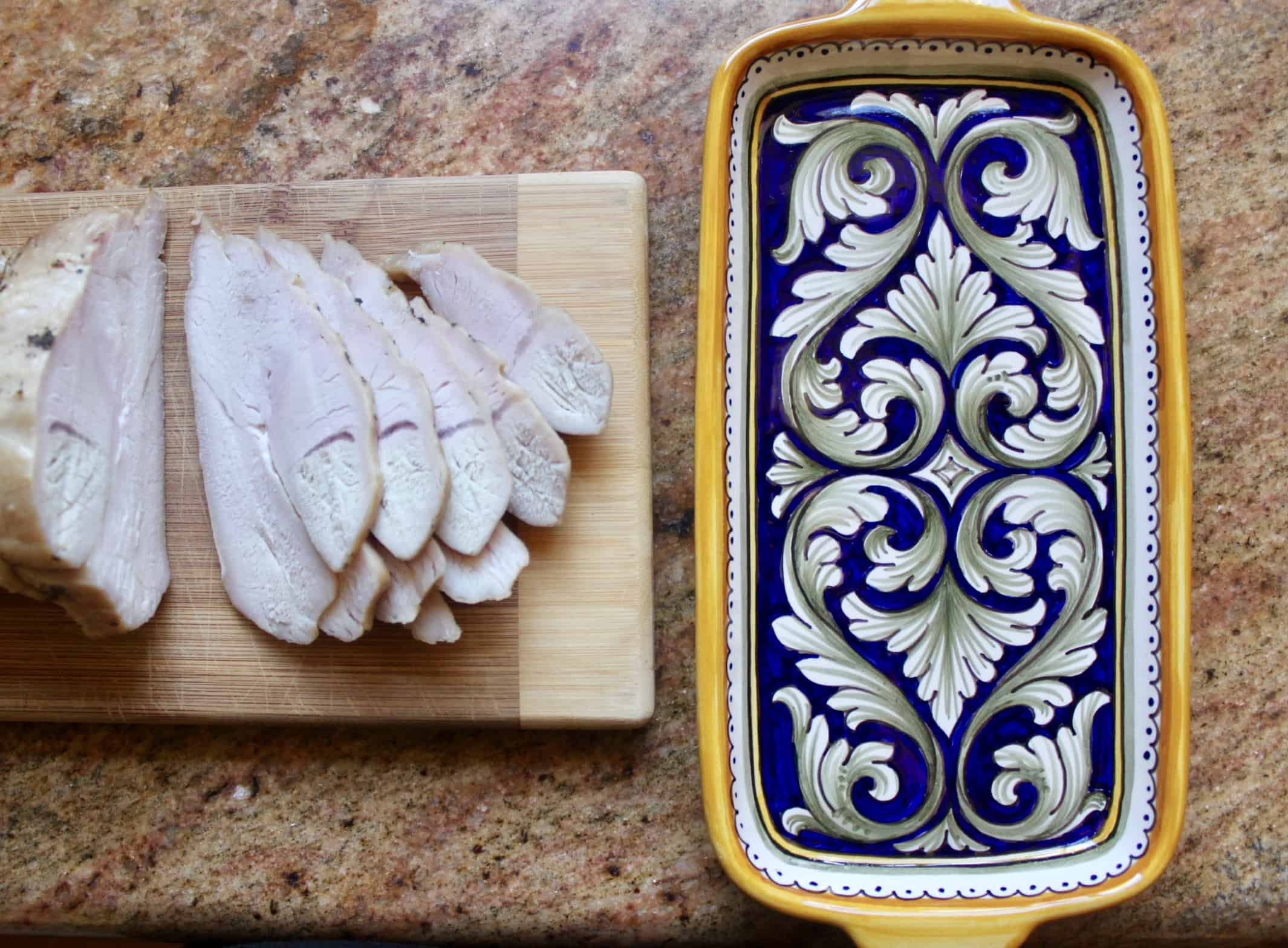sberna plate with turkey