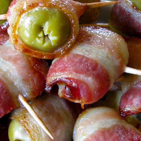 Bacon wrapped Olives