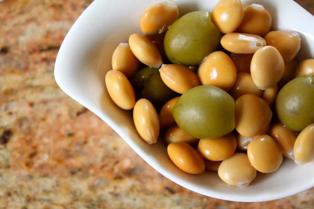 lupini beans with olives