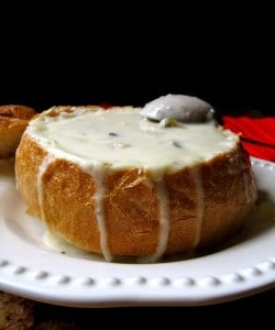 Christina's Clam Chowder in a Sourdough Bread Bowl