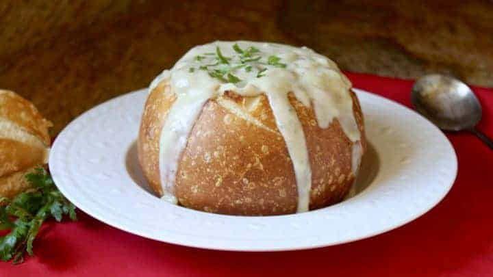 Christina S Clam Chowder Without Cream In A Sourdough Bread Bowl Christina S Cucina