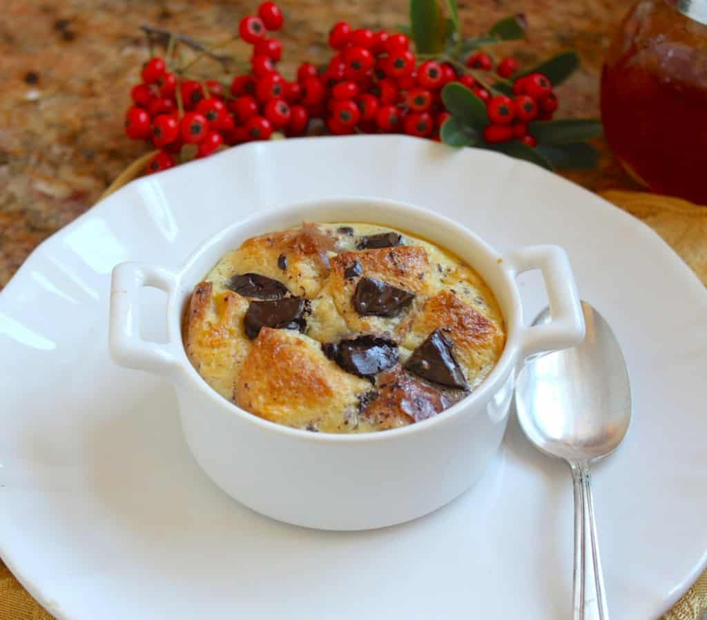 Ramekin fo Chocolate Orange Bread Pudding